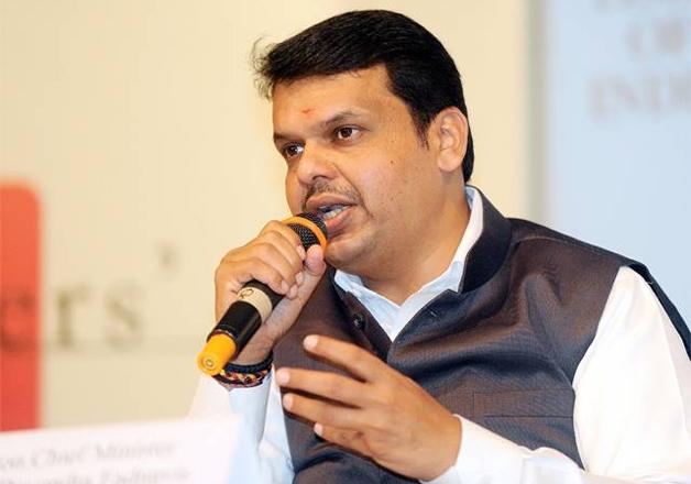 File photo - Maha CM Devendra Fadnavis speaks to media in