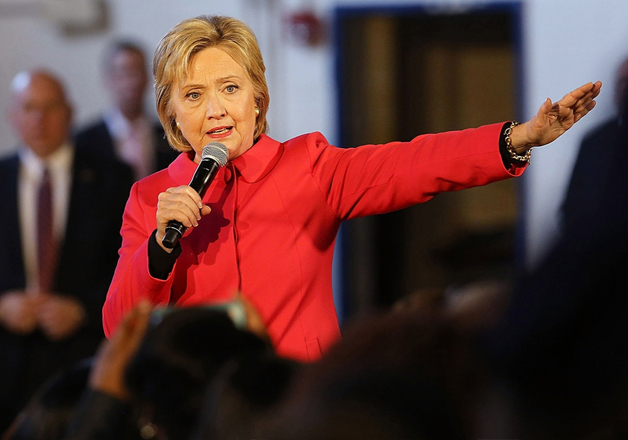 File photo - Democratic presidential candidate Hillary
