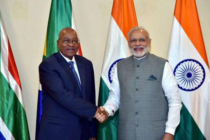 PM Modi with Jacob Zuma