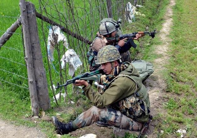 File - Jawans in action in Kashmir
