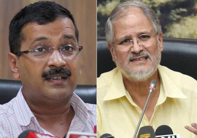 File pic of CM Kejriwal and LG Najeeb Jung.