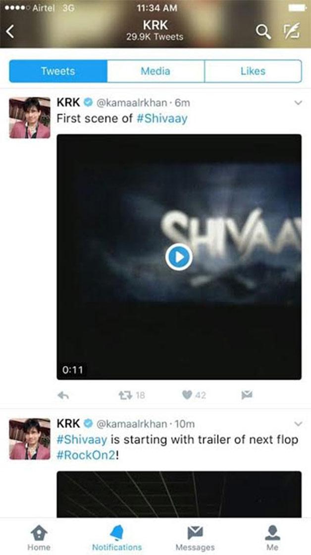 India Tv - KRK tweet