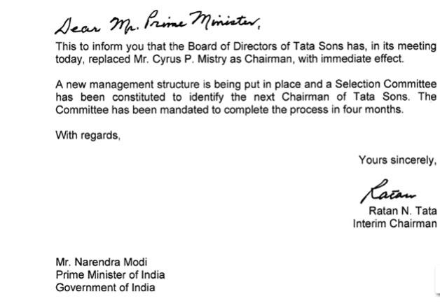 India Tv - Ratan Tata's letter to PM Modi
