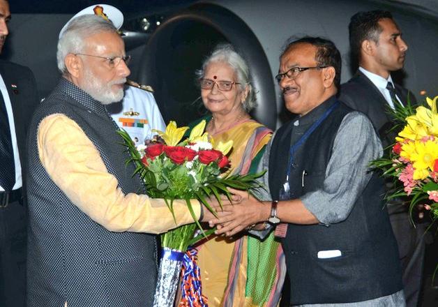 PM Modi arrives in Goa for BRICS 2016