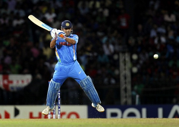 MS Dhoni playing Helicopter Shot