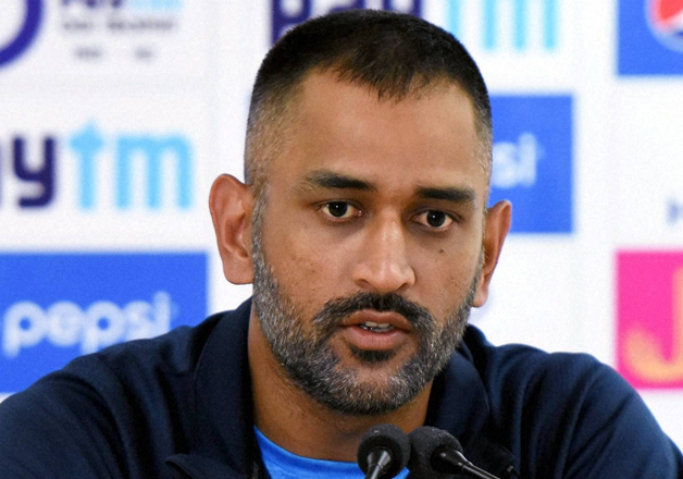 MS Dhoni speaks to media after match against New Zealand