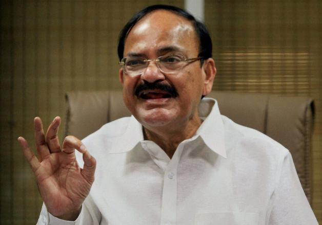 File pic - Venkaiah Naidu speaks to media in New Delhi