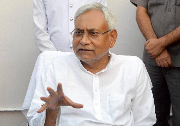 Bihar CM Nitish Kumar speaks to media in Patna
