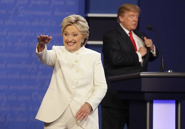 Hillary Clinton and Donald Trump at final presidential