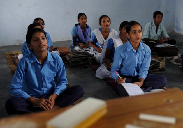 File pic of children studying at a school.