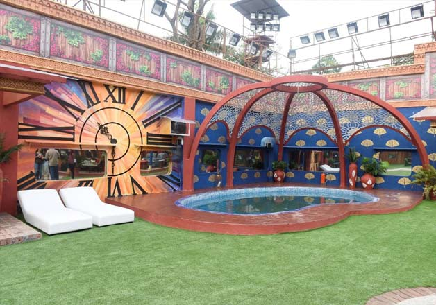 India Tv - Swimming pool and garden area