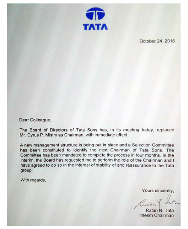 India Tv - Ratan Tata's letter to Tata Group employees