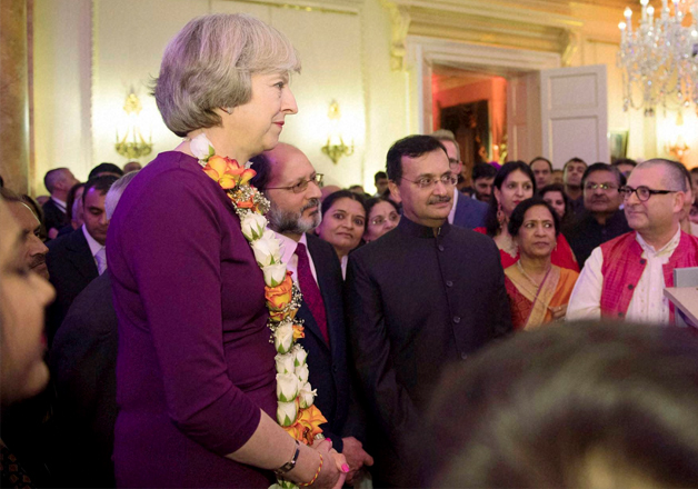 British PM Theresa May hosts her first Diwali event at 10,