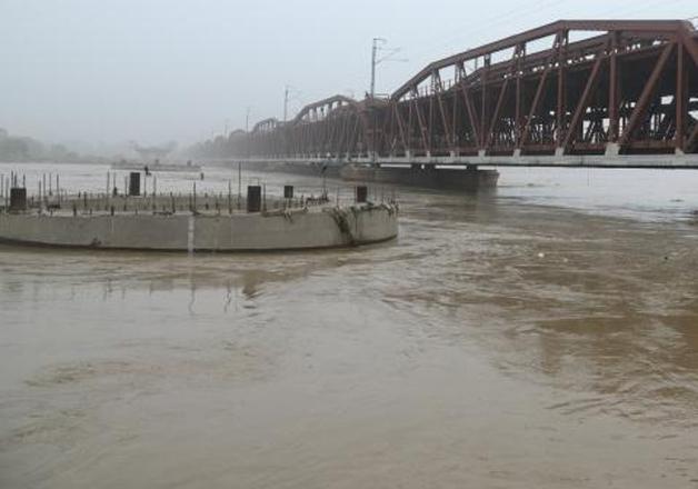 A view of Yamuna river in Delhi