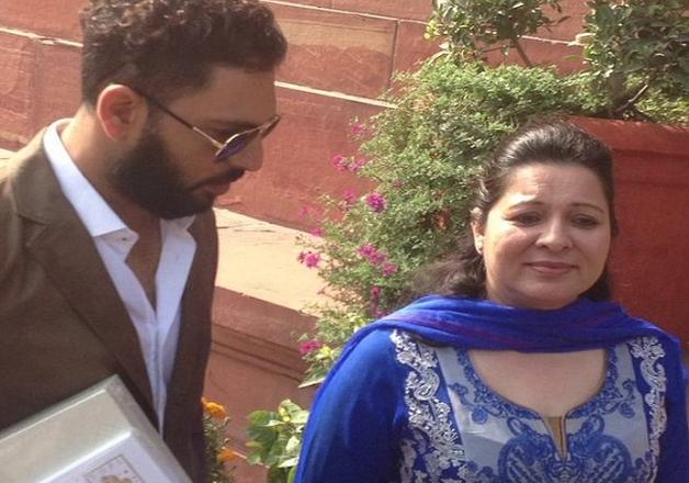India Tv - Yuvraj Singh visits Parliament to invite PM Modi for his marriage