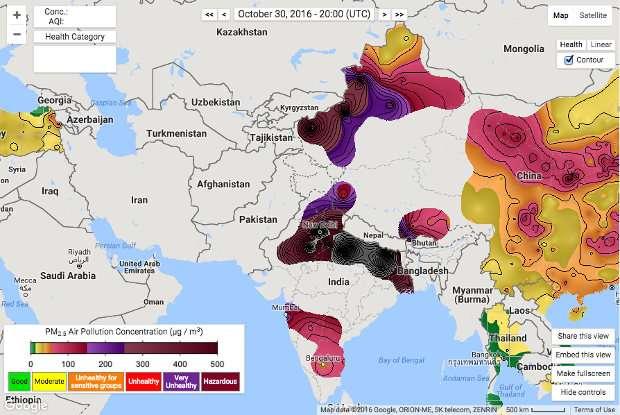 India Tv - Pollution graph