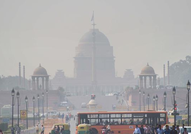 File pic - Rashtrapati Bhavan. Air pollution levels have