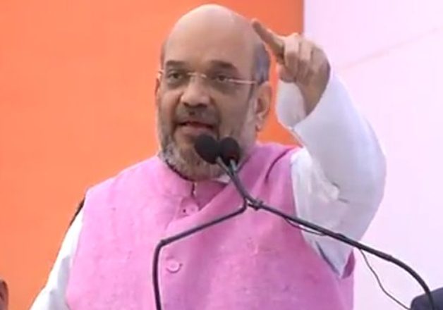 BJP president Amit Shah addresses a rally in Uttarakhand