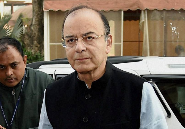 Arun Jaitley arrives at Parliament for the Winter Session
