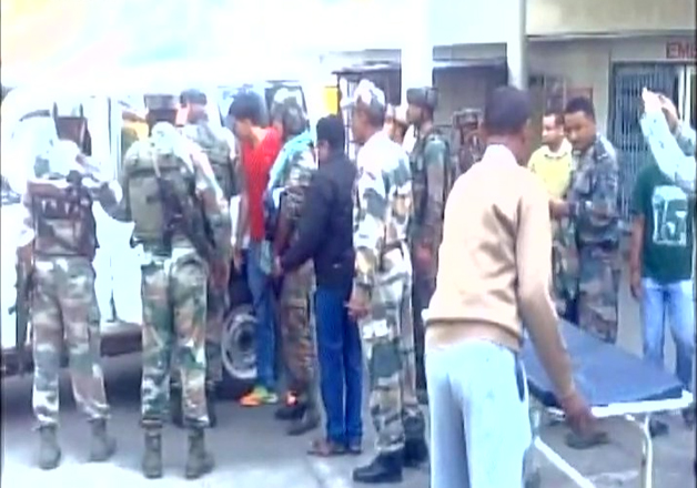 Injured jawans brought to a hospital in Tinsukia