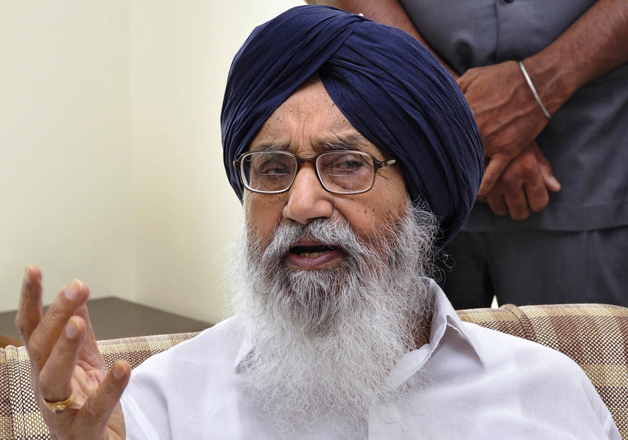 File pic of Punjab Chief Minister Parkash Singh Badal