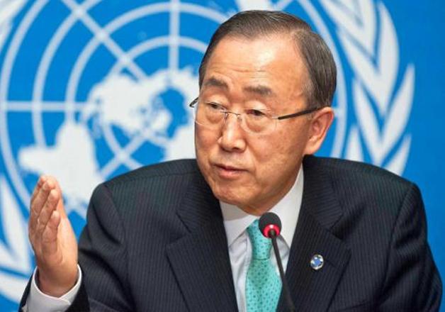File pic of UN Secretary-General Ban-ki-Moon