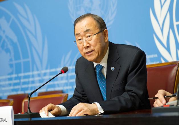 File pic - United Nations Secretary-General Ban Ki-moon