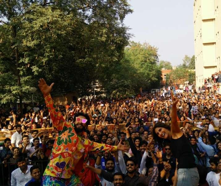 India Tv - Ranveer, Vaani in Delhi