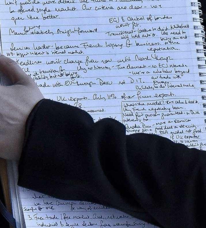 India Tv - Handwritten notes caught on camera