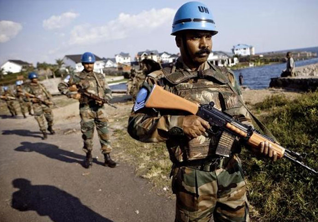 File - Indian soldiers from the UN Peacekeeping mission in