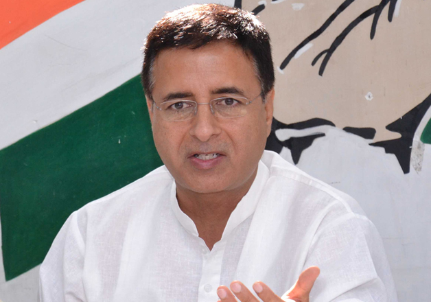 File pic of Congress spokesperson Randeep Surjewala