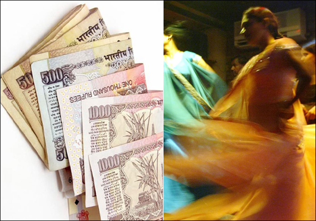 File pic - Old Rs 500, Rs 1000 notes, a view of dance bar