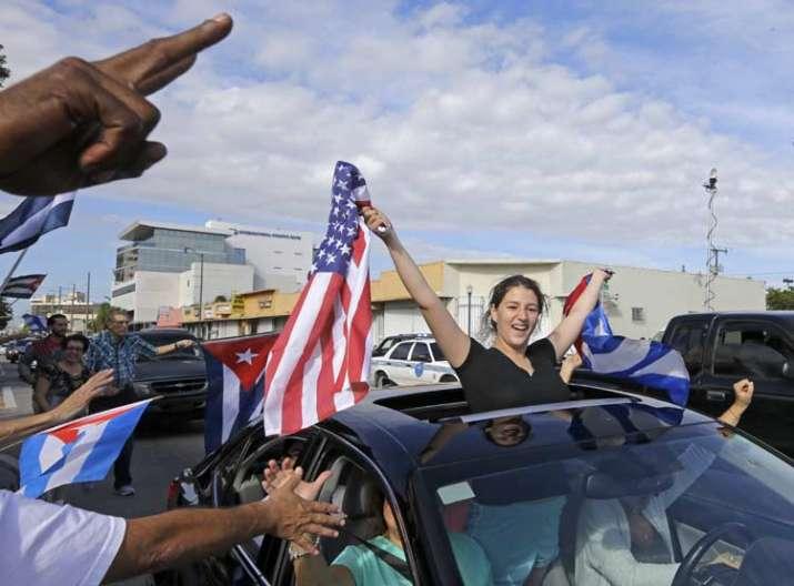 India Tv - Cubans living in US are celebrating Fidel Castro's death