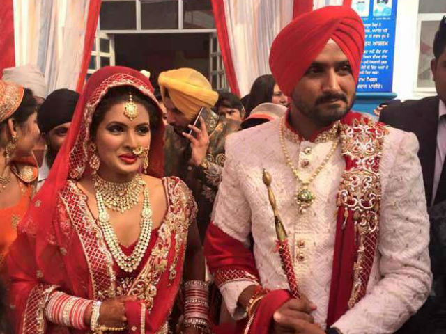 India Tv - Harbhajan Singh and Geeta Basra