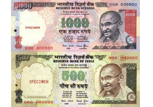 File pic of old Rs 500 and Rs 1,000 notes
