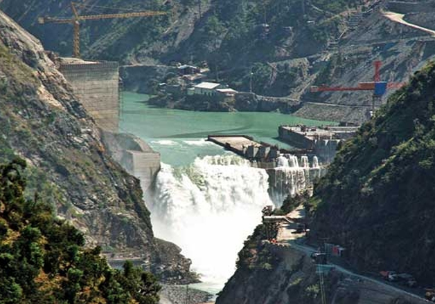 Water flows in Chenab with Baglihar hydroelectric project