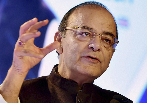Arun Jaitley addresses during the 2nd day of India- UK Tech