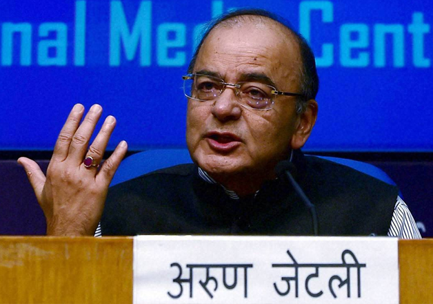 Union Finance Minister Arun Jaitley addressing media in New