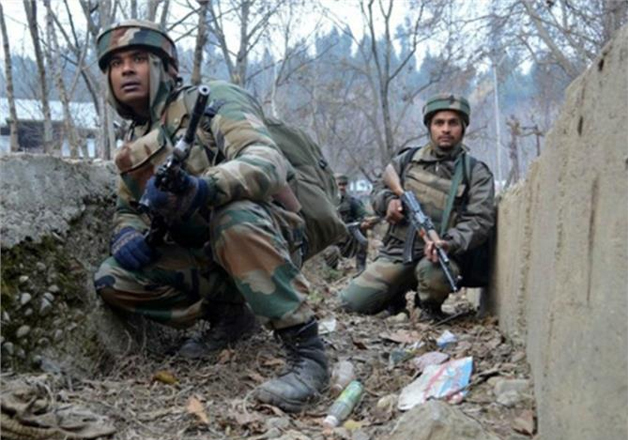 File pic - Jawans engage in fight against militants in