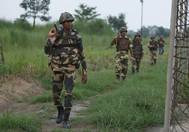 File pic - Indian jawans during foot patrolling in Kashmir