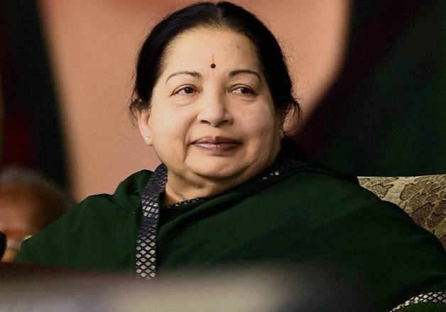 File pic of Tamil Nadu Chief Minister Jayalalithaa