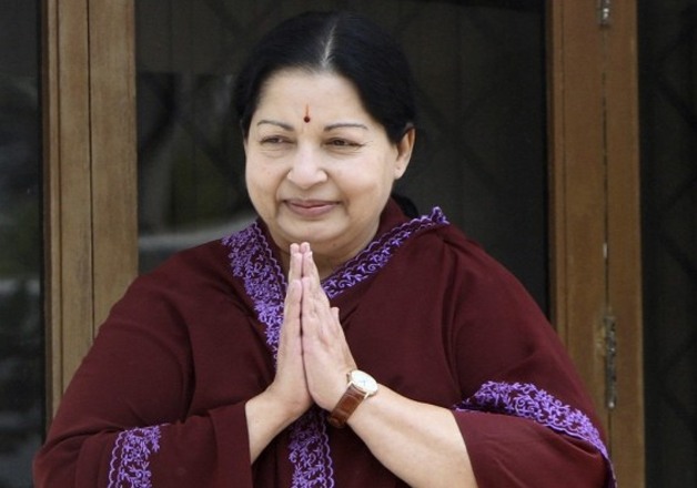 File pic of Tamil Nadu Chief Minister J Jayalalithaa