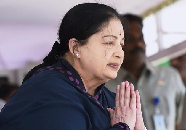 File pic - Tamil Nadu Chief Minister J Jayalalithaa