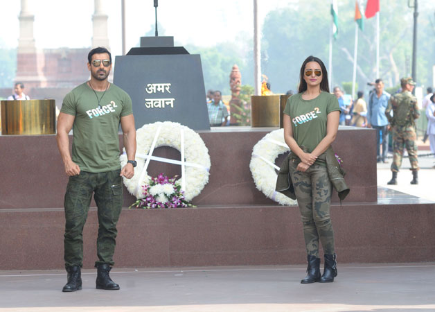 Respect the Indian forces John Abraham, Sonakshi Sinha pay