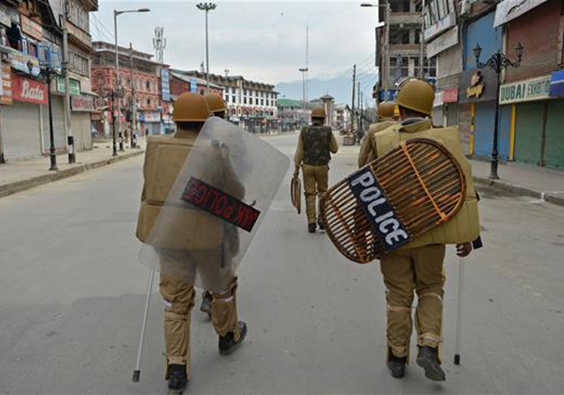 File pic - JK Police on foot patrolling