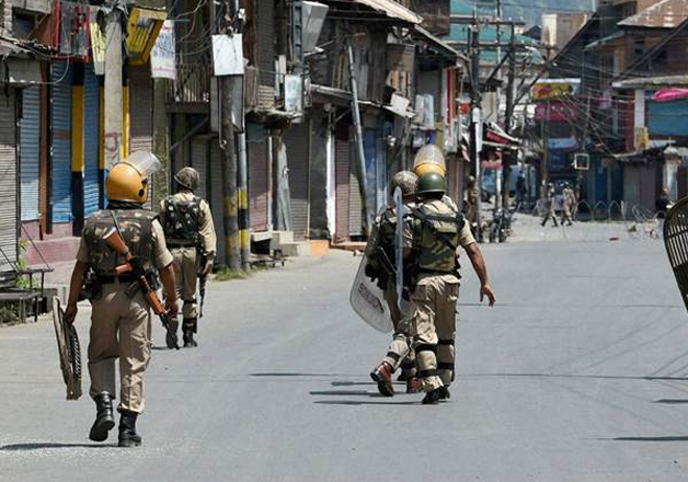 File pic - Indian security forces during Kashmir unrest