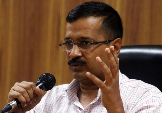 File pic of Delhi CM addressing media in New Delhi