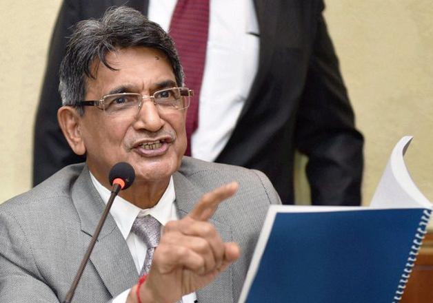 File pic - Justice RM Lodha speaks to media in New Delhi.