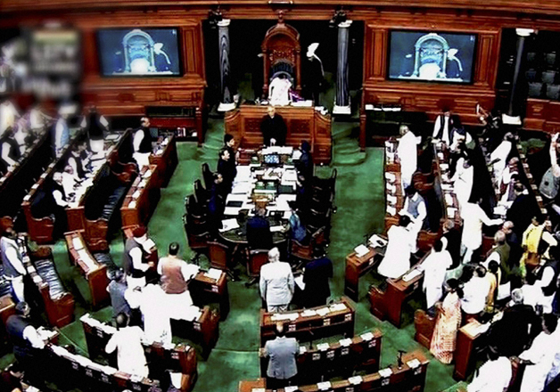 File pic of Lok Sabha proceedings