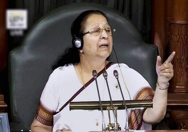 Speaker Sumitra Mahajan speaks in the LS during the Winter